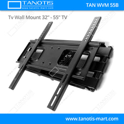 "Tanotis - Tanotis Imported Swivel Tilt Heavy Duty Dual Arm Full Motion TV Wall mount for LCD/LED Plasma TV's upto 32"" to 55"" inch for Flat Wall or Corner mounting with VESA upto 400 MM x 400 MM - 10"