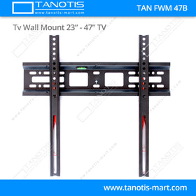 "Tanotis - Tanotis Imported Fixed TV Wall mount for LCD/LED TV's upto 23"" to 42"" inch for flat wall Mounting with VESA upto 400 MM - 2"