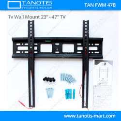 "Tanotis - Tanotis Imported Fixed TV Wall mount for LCD/LED TV's upto 23"" to 42"" inch for flat wall Mounting with VESA upto 400 MM - 3"