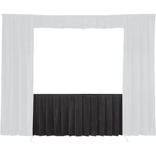 "Da-Lite 36721 Skirt ONLY for the 63 x 84"" Fast-Fold Deluxe Frame (Black)"