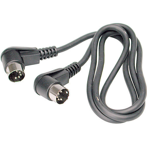 Hosa Technology MIDI Angled to MIDI Angled Cable (3')