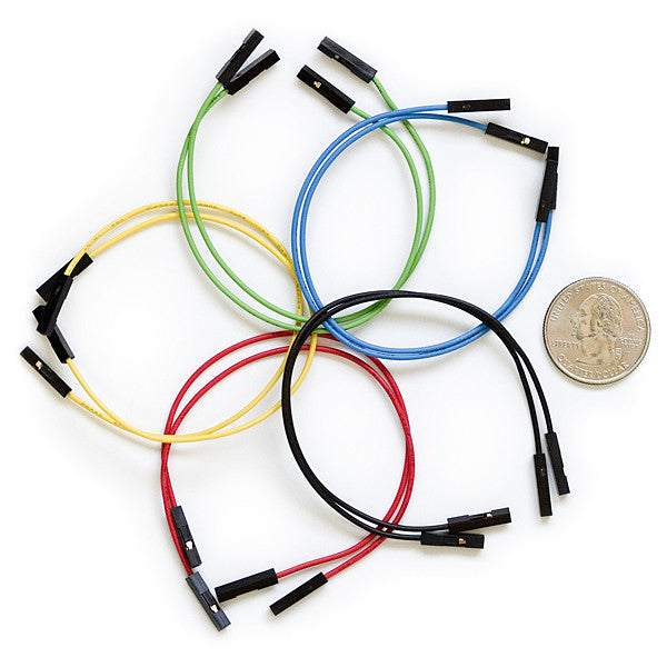 "Tanotis - SparkFun Jumper Wires Premium 6"" Mixed Pack of 100 Wire - 1"
