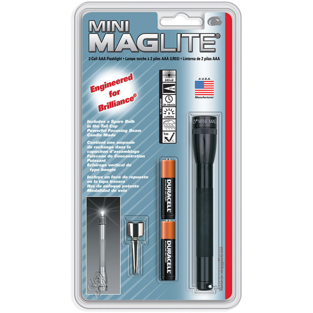 Maglite Mini Maglite 2-Cell AAA Flashlight with Clip (Black)