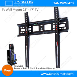 "Tanotis - Tanotis Imported Fixed TV Wall mount for LCD/LED TV's upto 23"" to 42"" inch for flat wall Mounting with VESA upto 400 MM - 1"