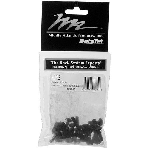 "Middle Atlantic HPS 10-32 3/4"" Philips Truss-Head Screws & Washers 25 Pieces (Black)"