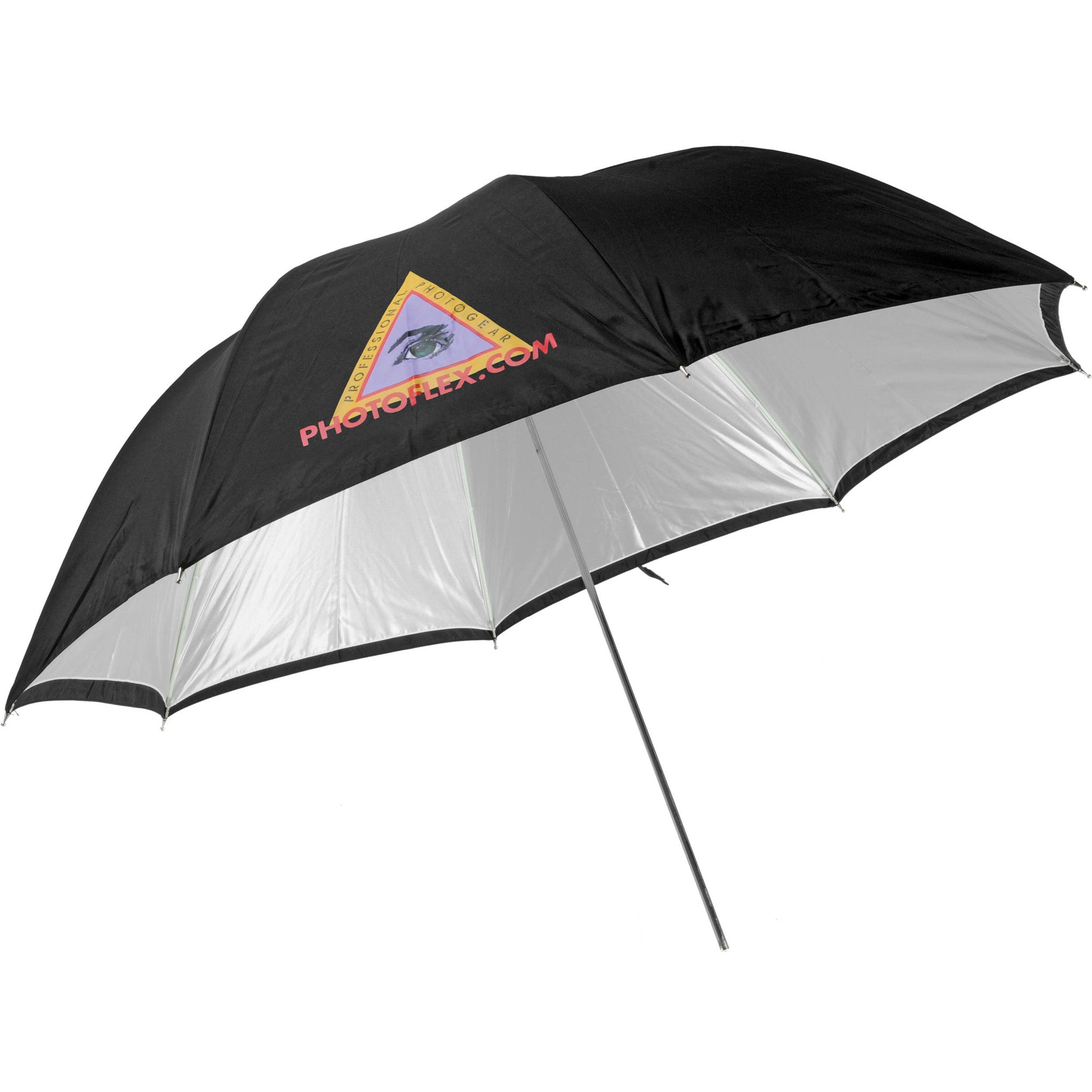 Photoflex Convertible Umbrella - White Satin with Removable Black Cover - 30""