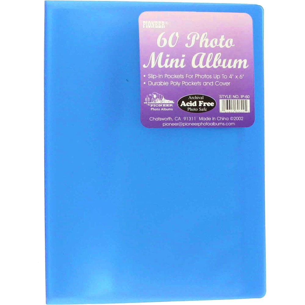 Transparent Poly Photo Album 4 X 6 Transparent Blue India Tanotis