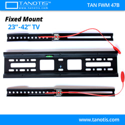"Tanotis Imported Fixed TV Wall mount for LCD/LED TV's upto 23"" to 42"" inch for flat wall Mounting with VESA upto 400 MM"