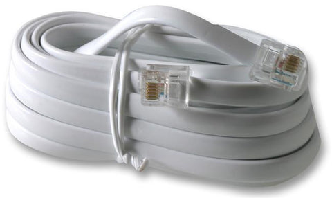 PRO SIGNAL PS11459 CABLE, RJ12-RJ12, WHITE, X WIRE, 3M