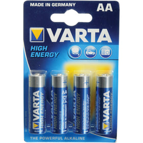 Varta High-Energy 1.5V AA LR6 Alkaline Battery (4-Pack)