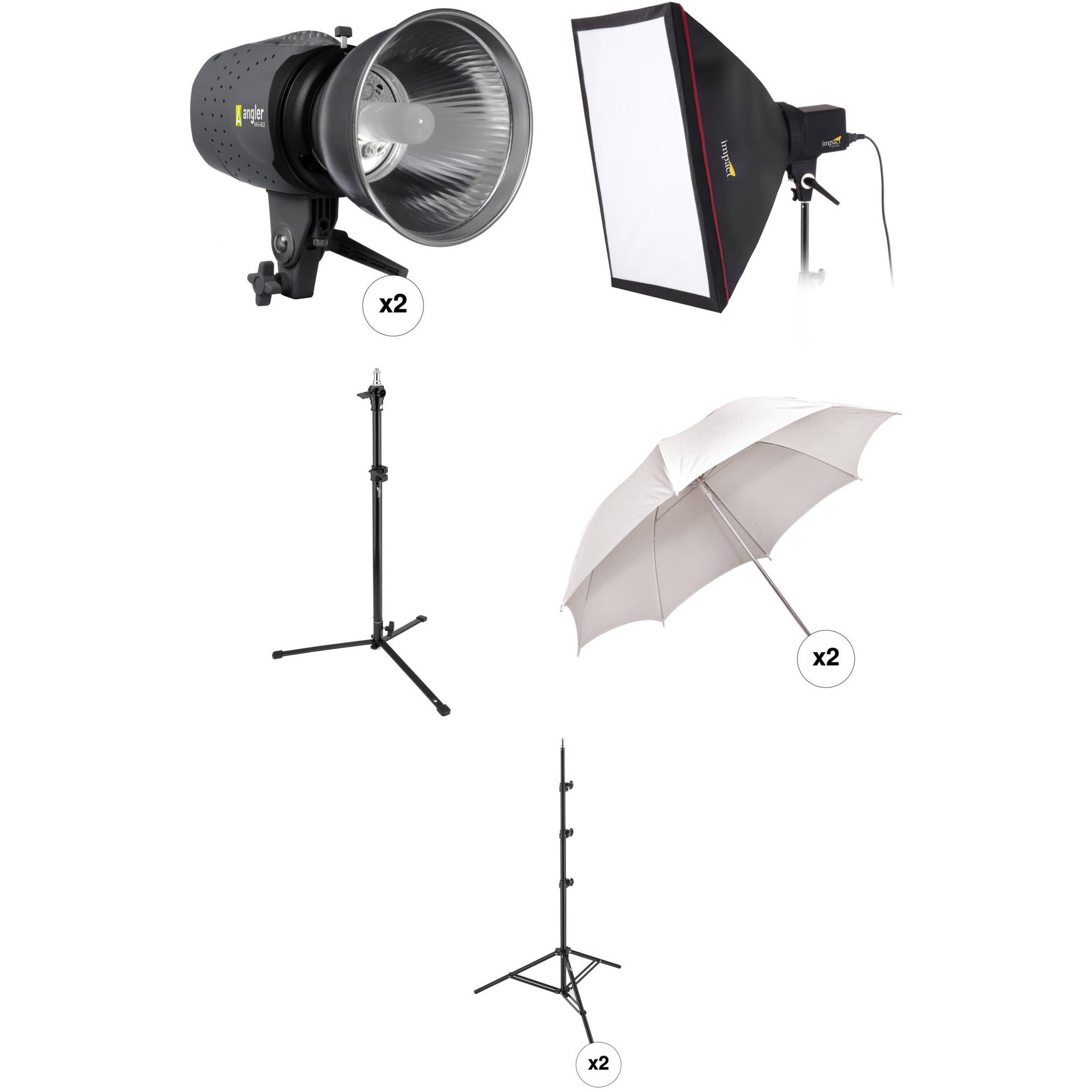 Angler 3-Monolight Portrait Backlight Kit