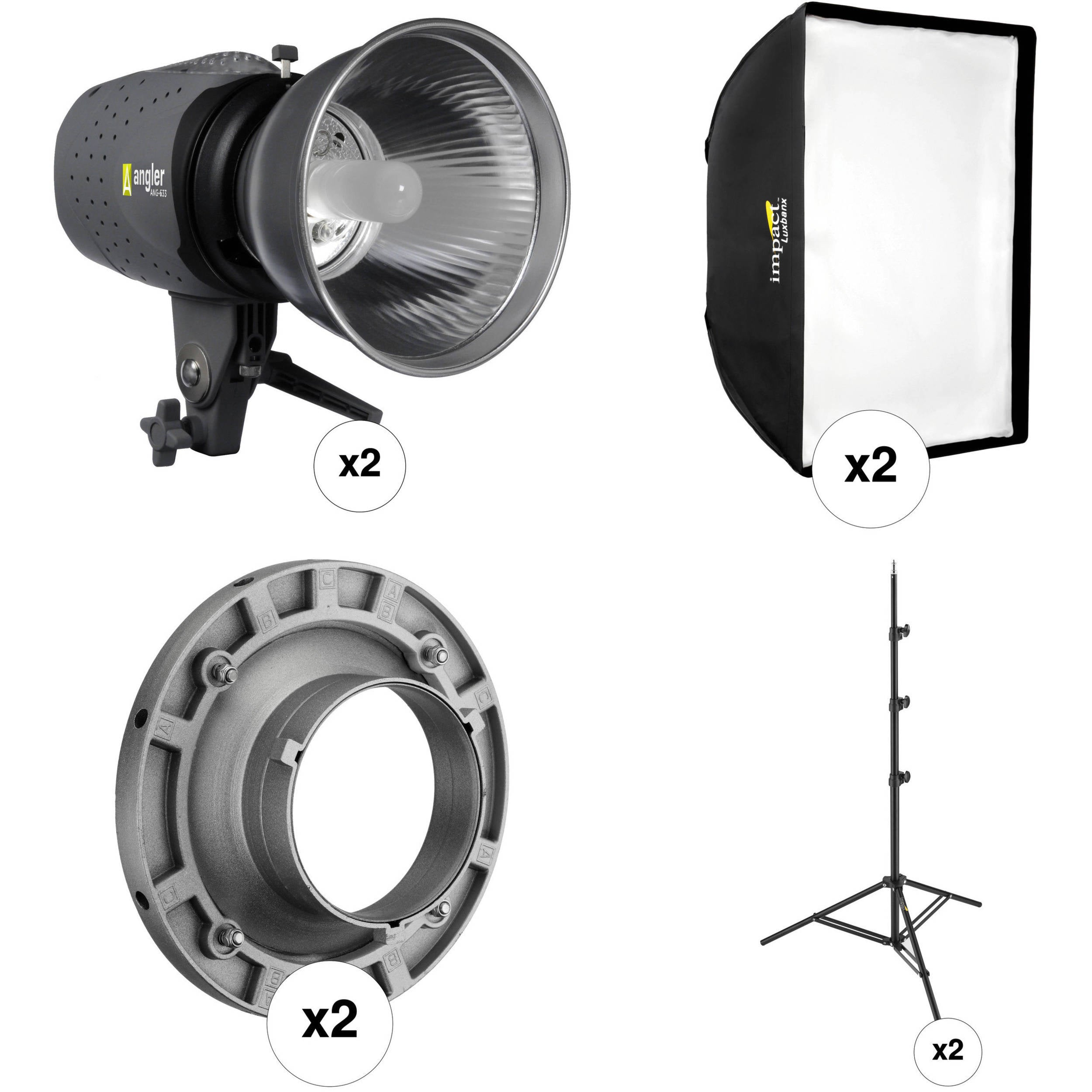 Angler Two Monolight Softbox Kit