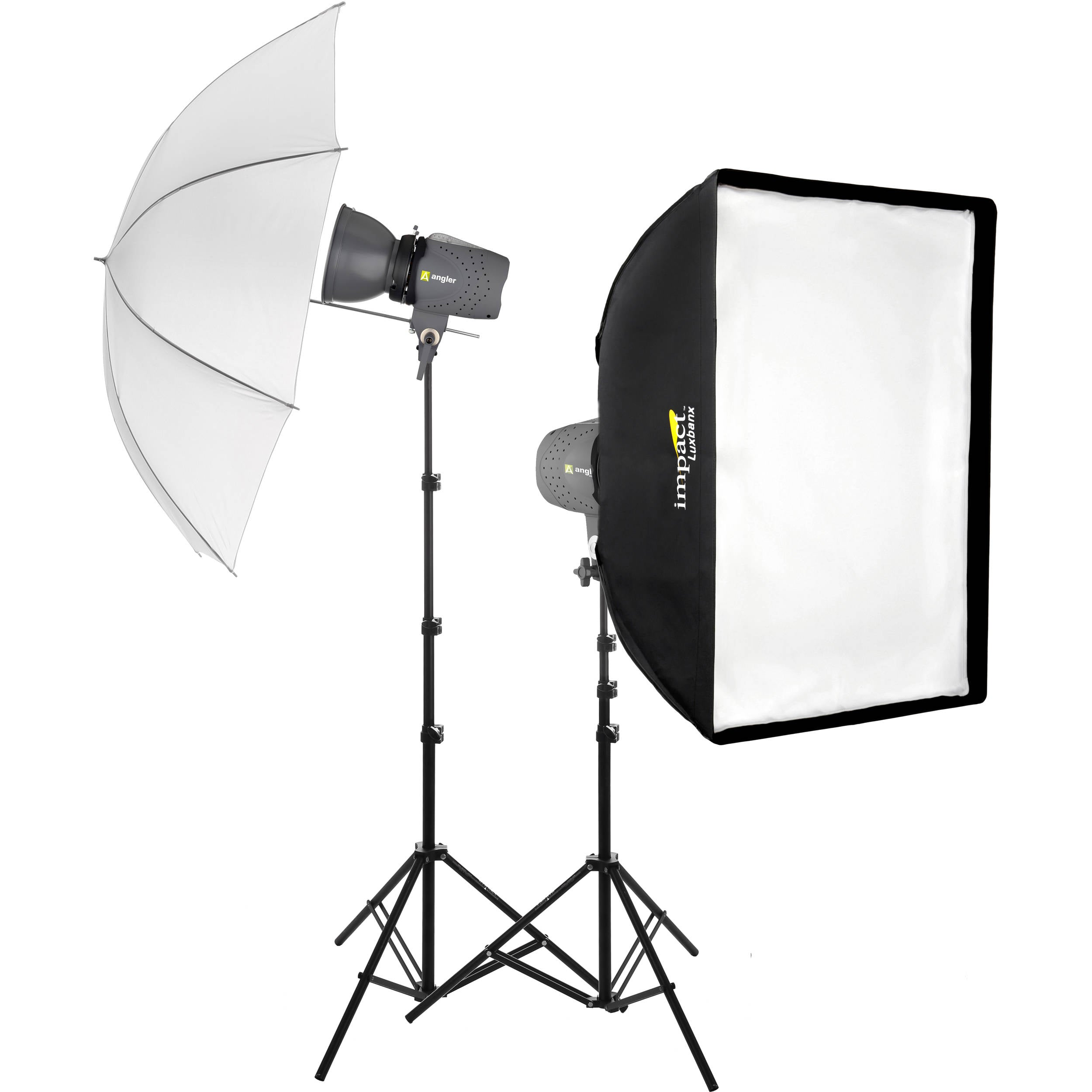 Angler Two Monolight Umbrella and Softbox Kit