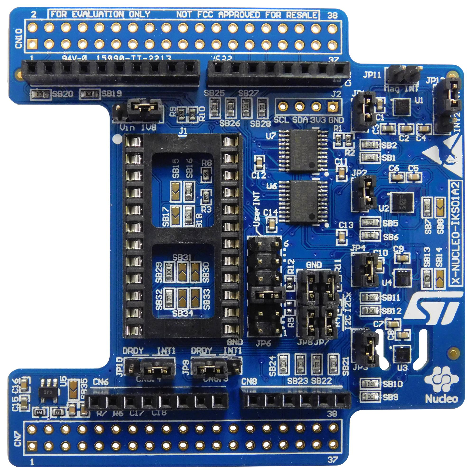STMICROELECTRONICS X-NUCLEO-IKS01A2 Expansion Board, Motion MEMS and  Environmental Sensor, For STM32 Nucleo, Arduino UNO R3 Layout
