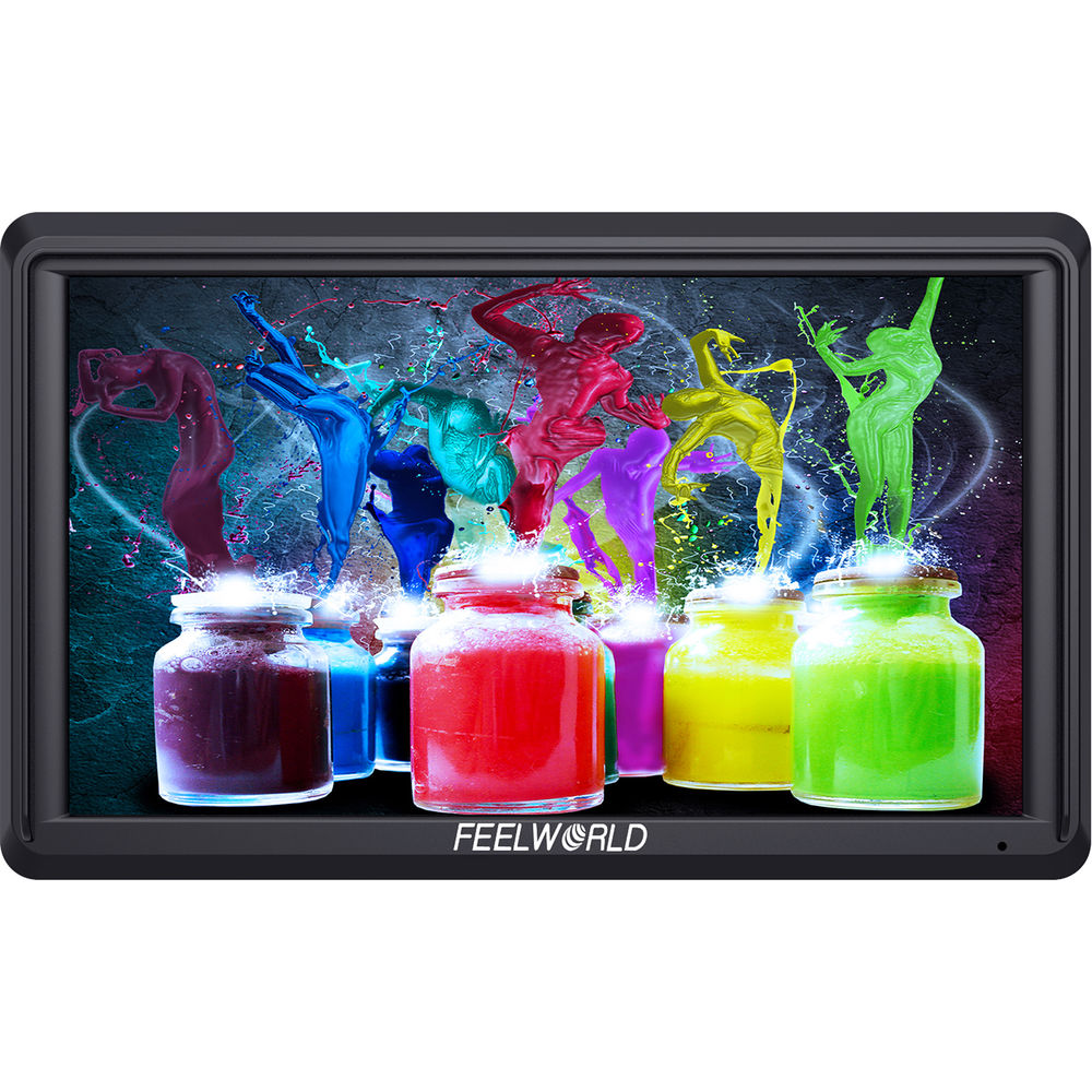 """FeelWorld 5.5"""" 4K On Camera Monitor For Gimbals With DC Power Out."""