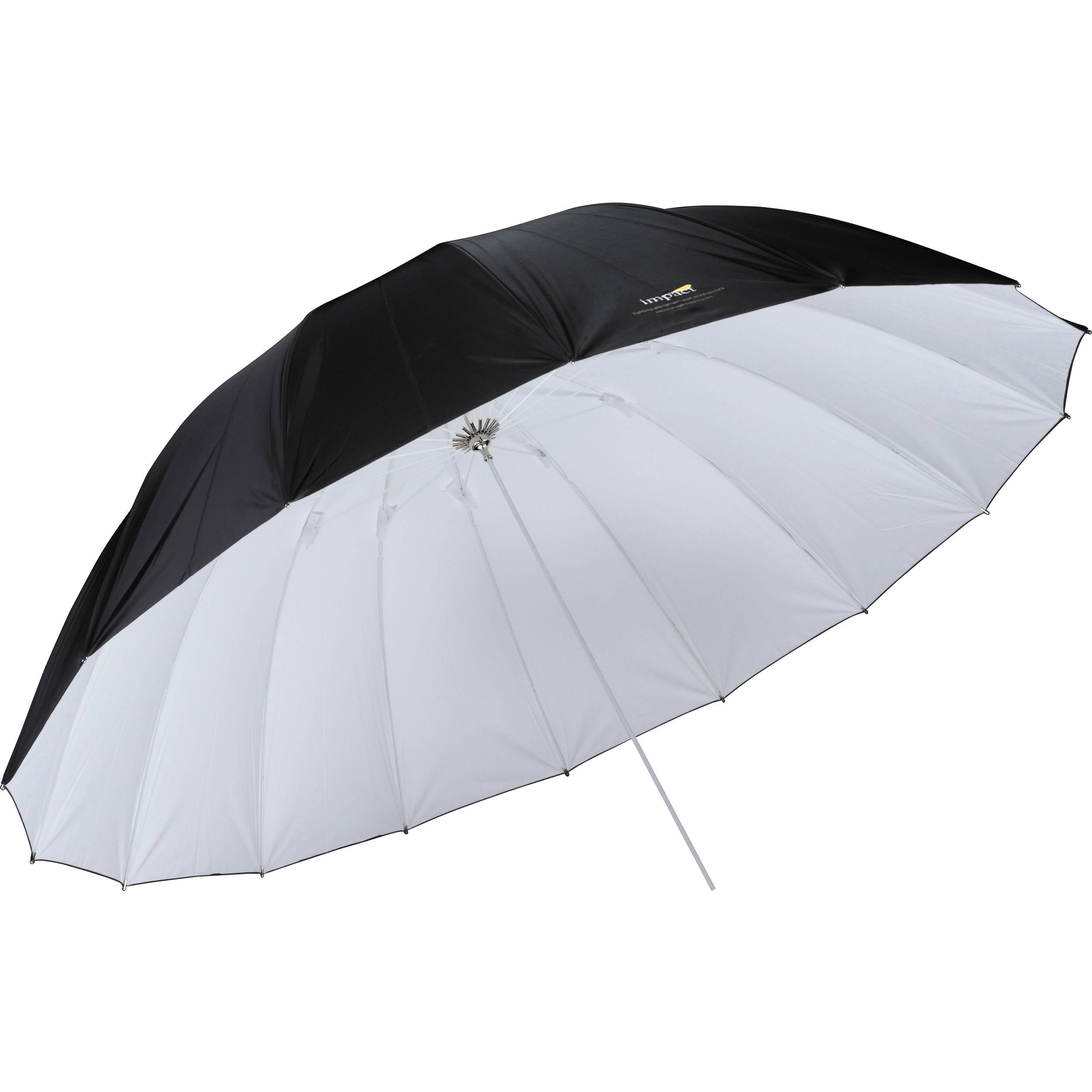 Impact 7' Improved Parabolic Umbrella (White/Black)