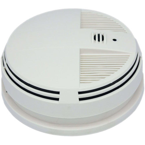 KJB Security Products Zone Shield Smoke Detector with 4K UHD Covert Camera & DVR (Bottom View)