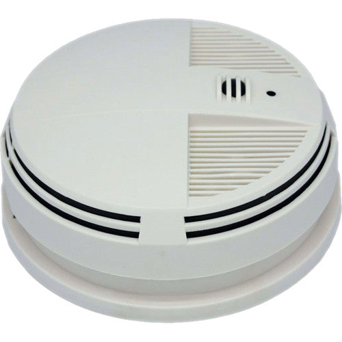 KJB Security Products Zone Shield Smoke Detector with 4K UHD Covert Camera & DVR (Side View)