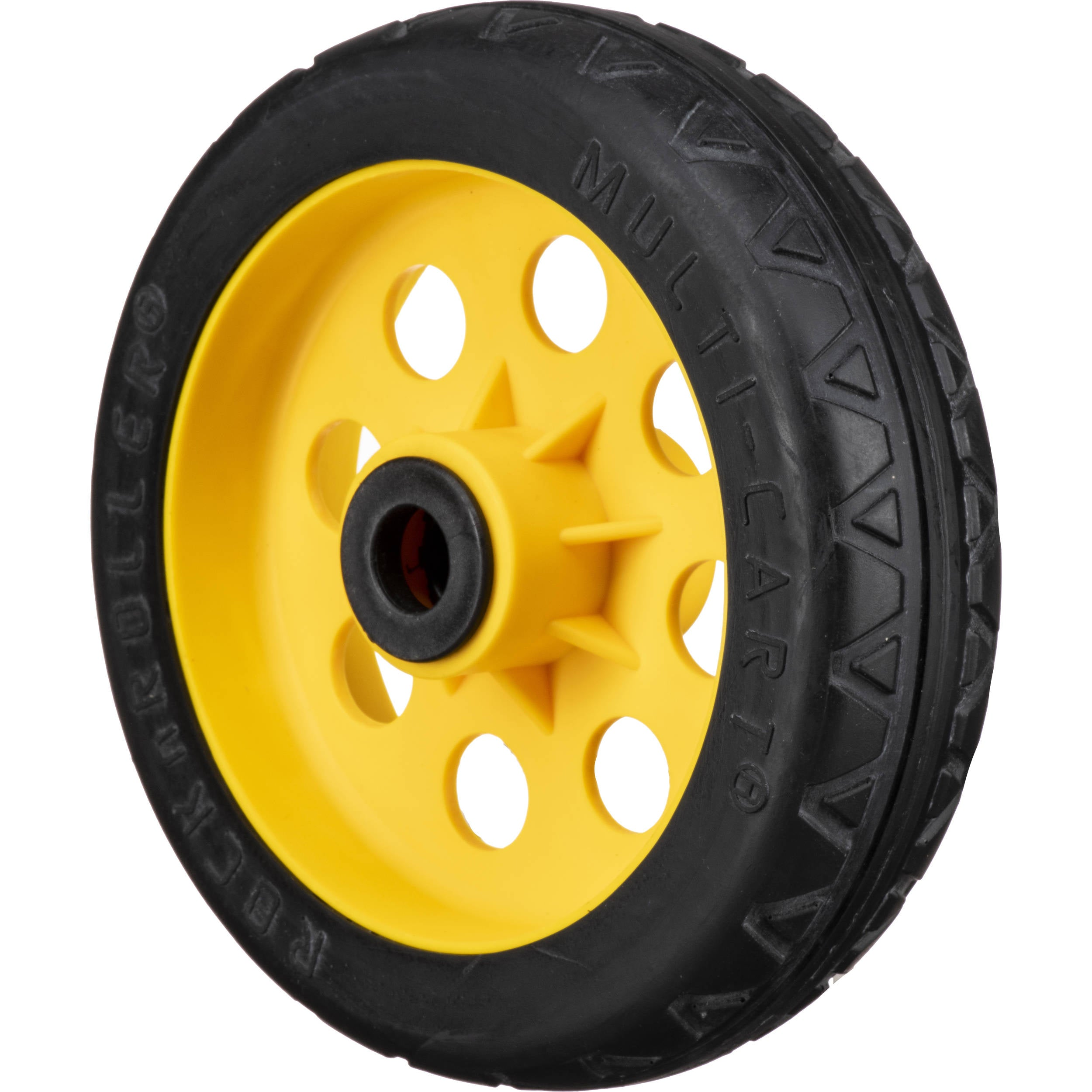 "MultiCart R-Trac Symmetrical Wheel for R12 Caster (8 x 2"", Yellow Hub, 2-Pack)"