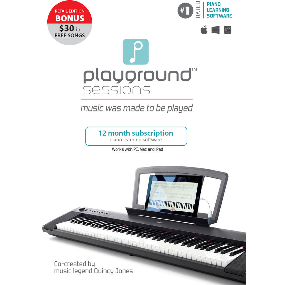 Rising Software Playground Sessions Piano Learning Software with Bonus Content (1-Year Subscription, Boxed Edition)