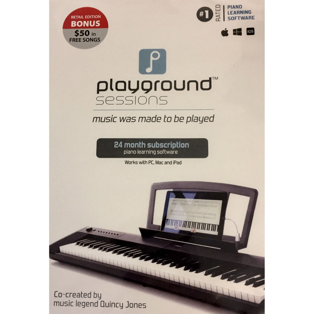 Rising Software Playground Sessions Piano Learning Software with Bonus Content (2-Year Subscription, Boxed Edition)