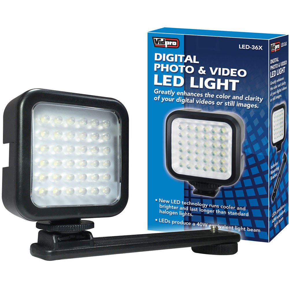 Vidpro LED-36X Photo & Video On-Camera LED Light