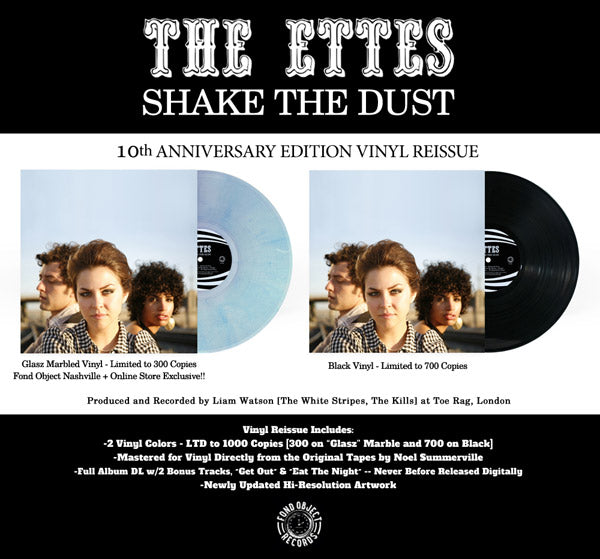 The Ettes - Shake The Dust - 10th Anniversary Vinyl Reissue