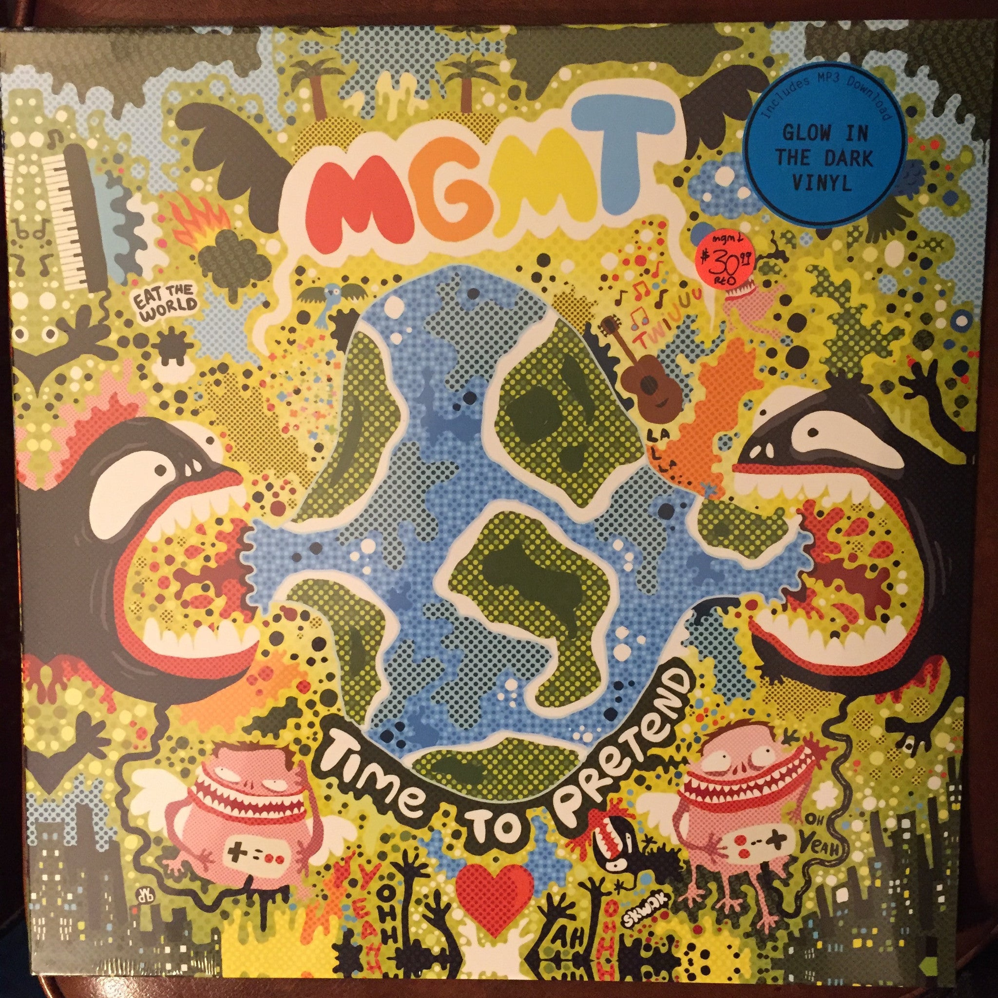 "MGMT - Time To Pretend 12"" EP (Glow In the Dark Vinyl)"