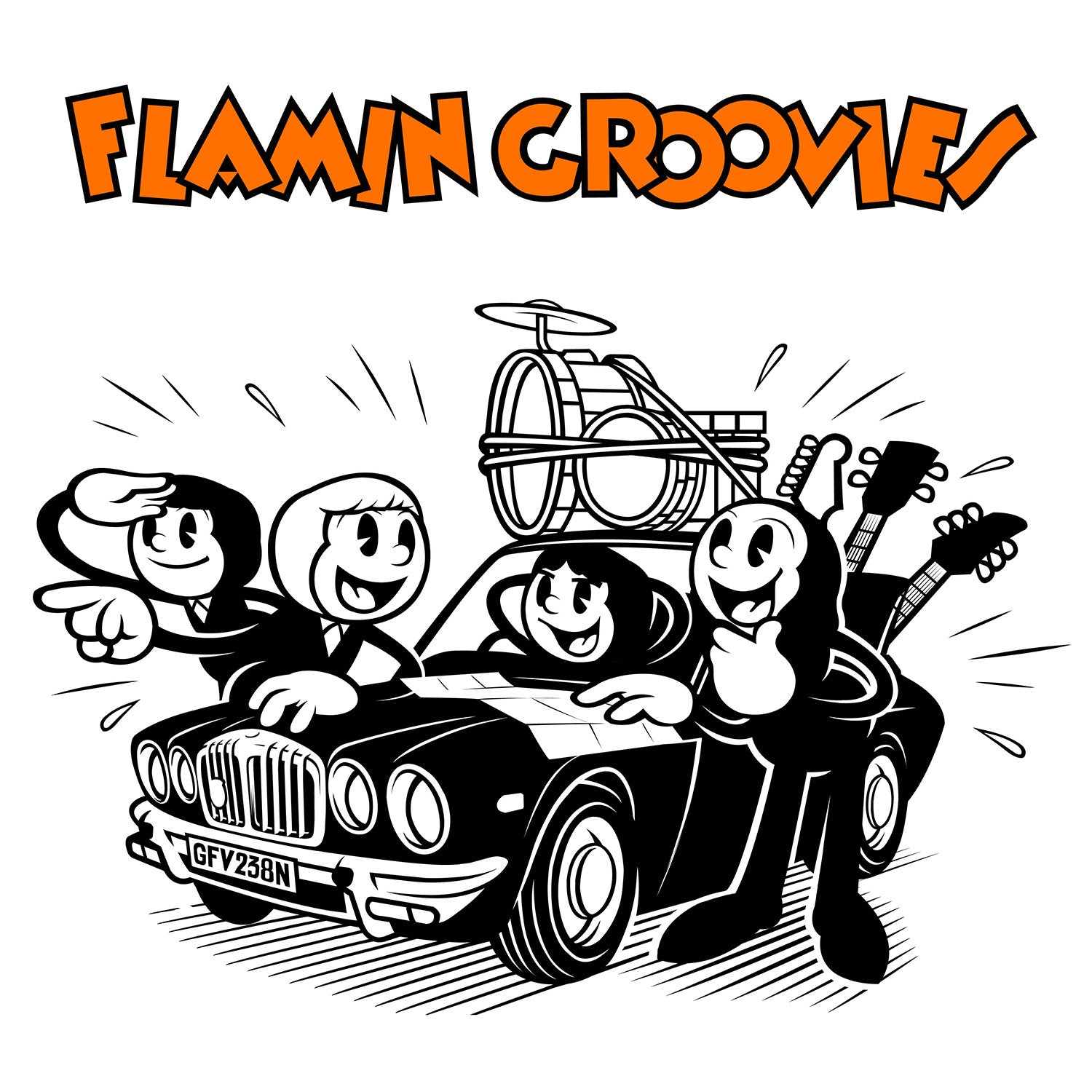 Flamin' Groovies, The - Crazy Macy b/w Let Me Rock 7""
