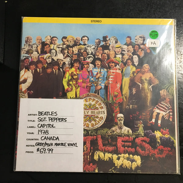 The Beatles - Sgt. Peppers ( Green/Pink Marble Vinyl Canada 1978)