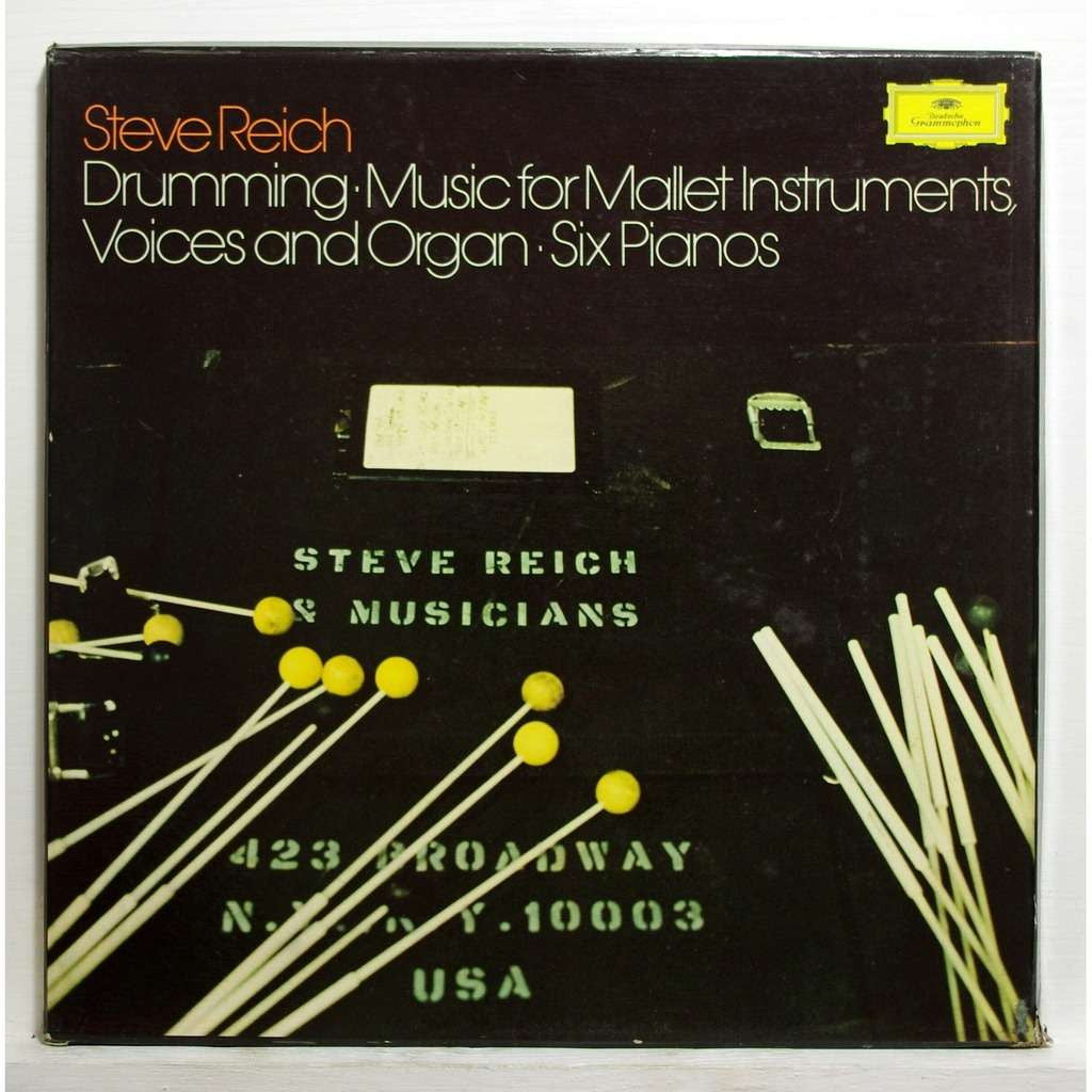 Steve Reich - Drumming, Music For Mallet Instruments Voices and Organ, Six Pianos 3xlp Box Set