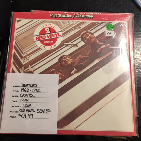 The Beatles - 1962-1966 ( Red Vinyl 1978 USA)