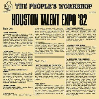 The People's Workshop - Houston Talent Expo '82 LP