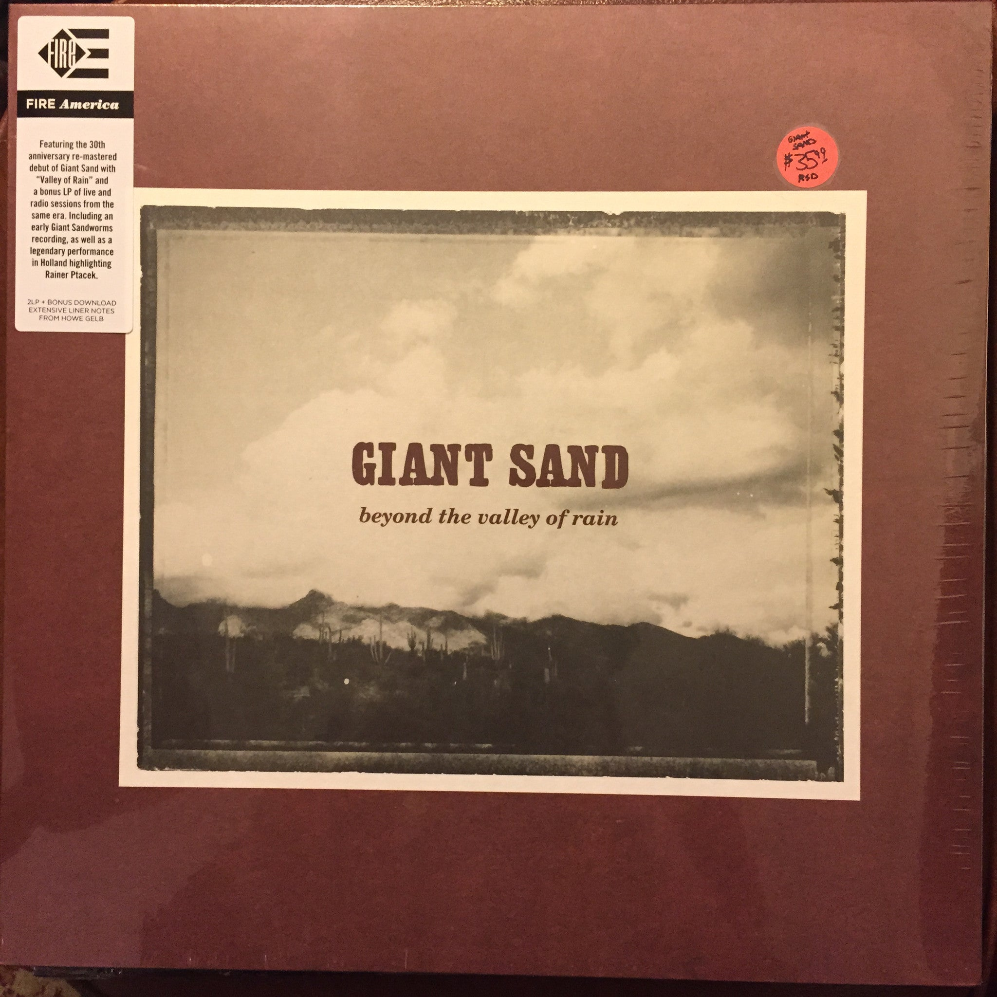 Giant Sand - Beyond the Valley of Rain 2xLP (30th Anniversary) - RSD 2015 NEW/SEALED