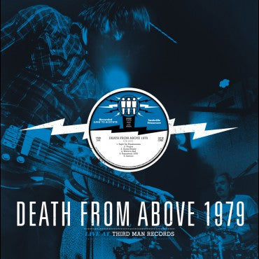 Death From Above 1979 - Live At Third Man Records LP (Black and Blue Vinyl)