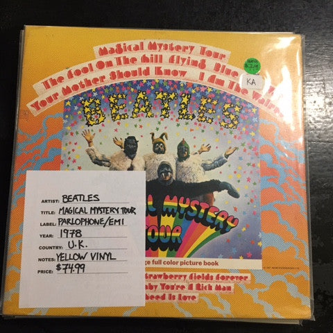 The Beatles - Magical Mystery Tour LP ( Yellow Vinyl Parlaphone/EMI U.K 1978)