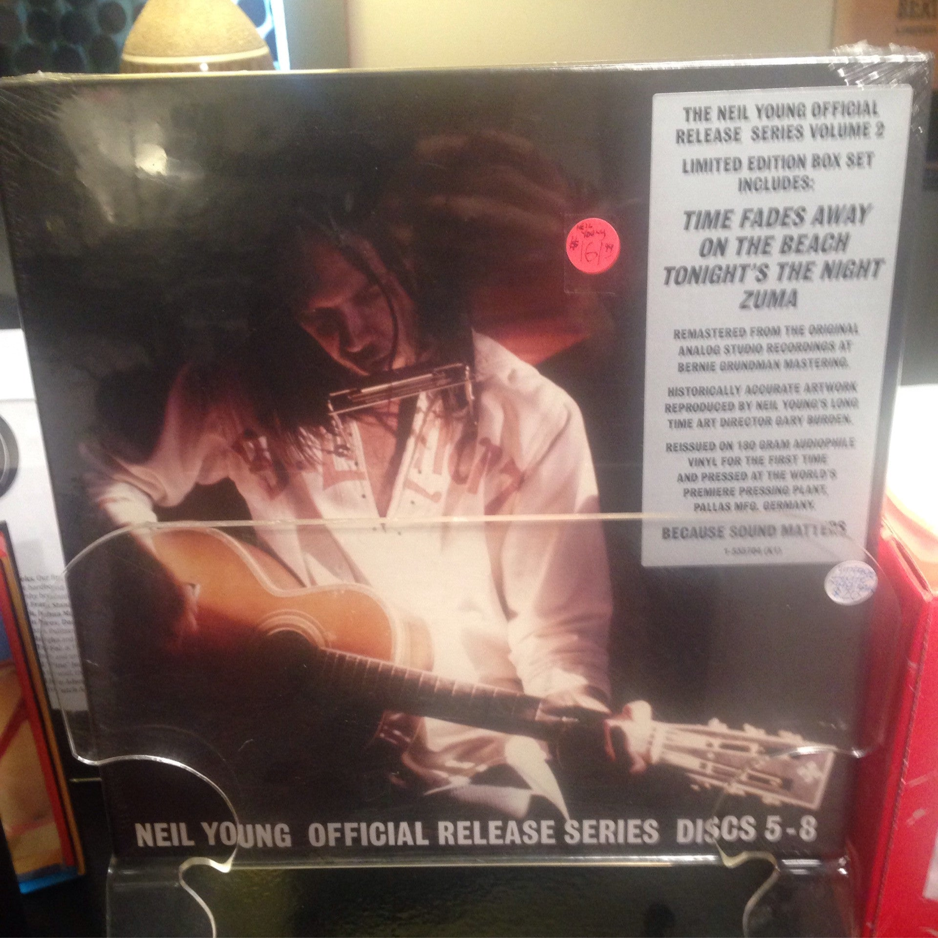 Neil Young - Release Series Vol 2 LP Box Set - Time Fades Away, On The Beach, Tonight's The Night, Zuma