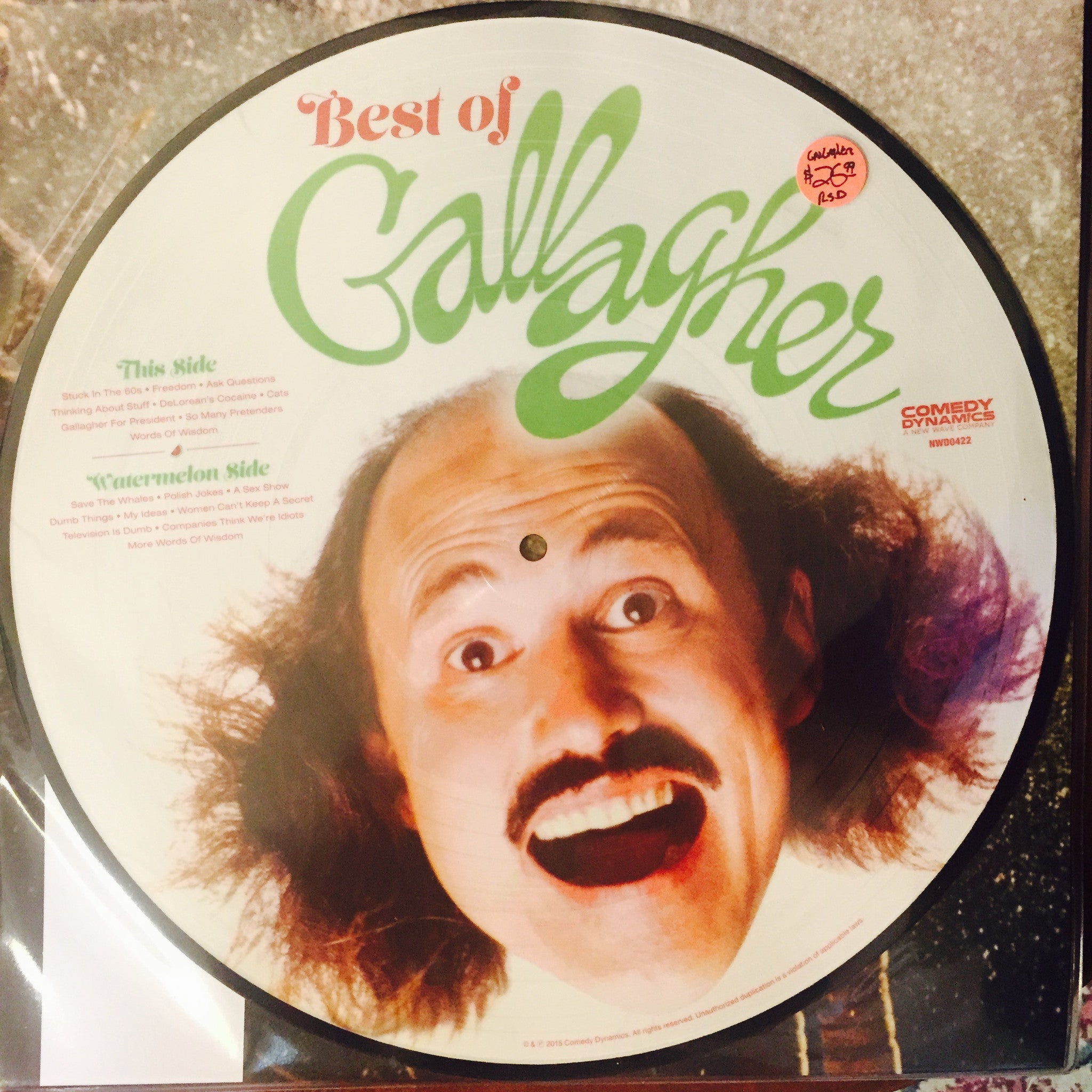 Gallagher - Best of Gallagher Picture Disc LP - RSD 2015