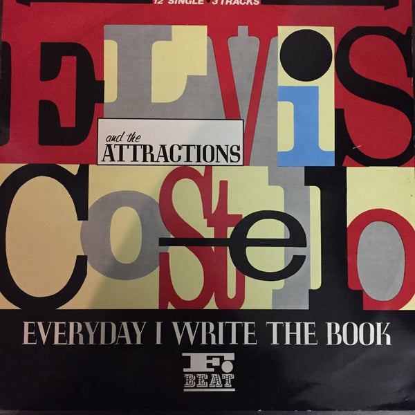 Elvis Costello and The Attractions - Everyday I Write The Book LP (XX 32T)