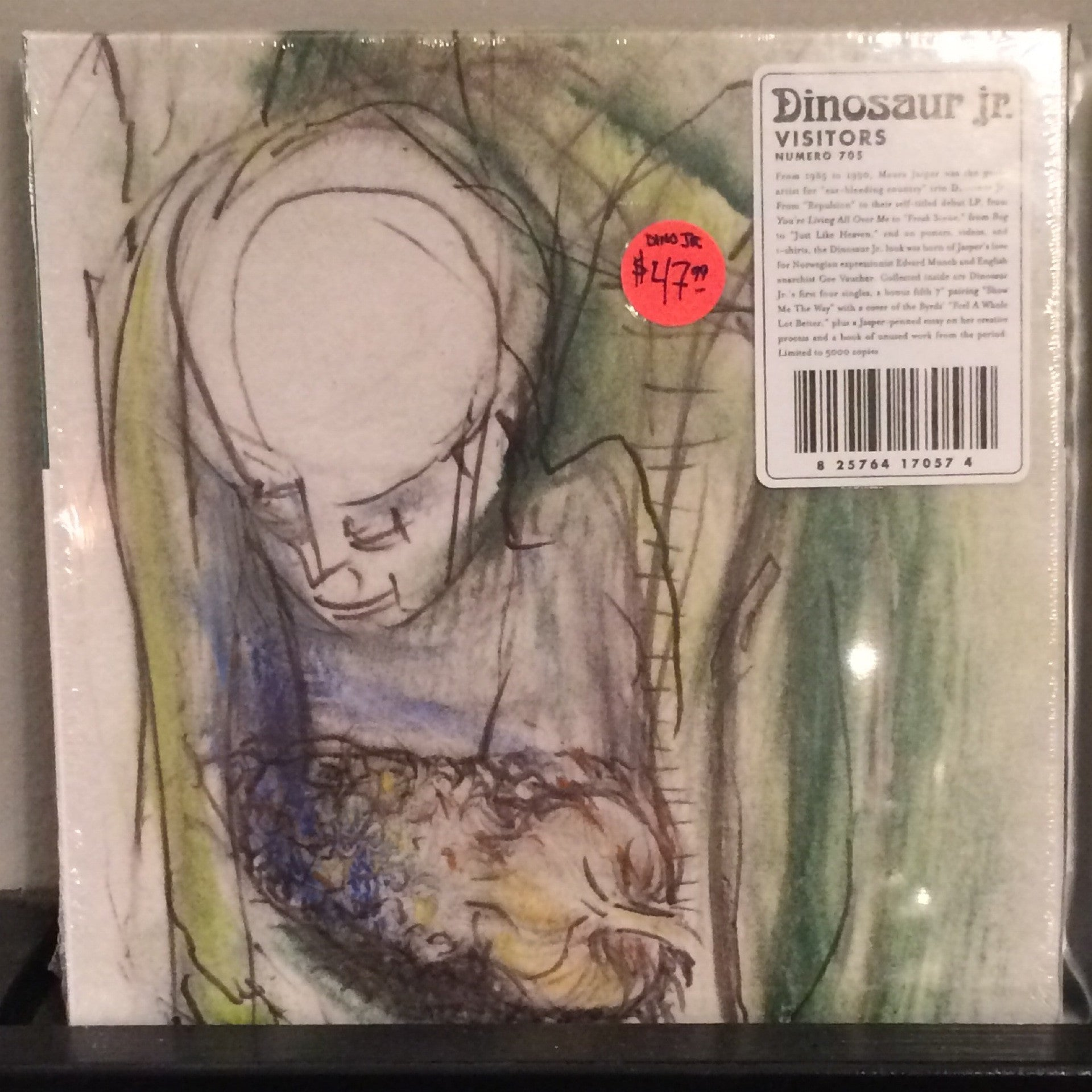"Dinosaur Jr - Visitors 7"" Single Box Set - First 4 Singles And A Bonus Cover Single - RSD 2014 New/Sealed"