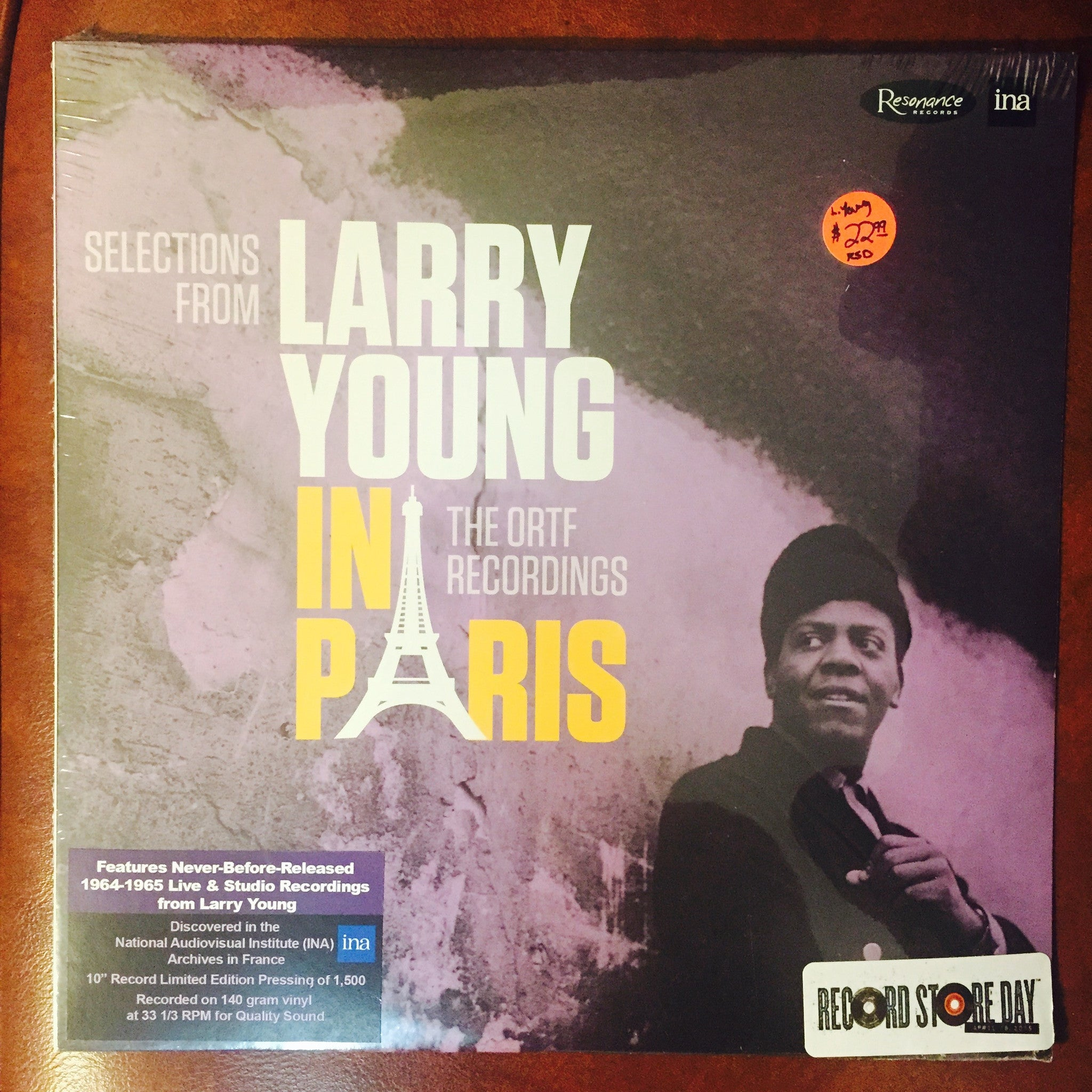 Larry Young - Selections from Larry Young In Paris - The ORTF Recordings RSD 2015 10""