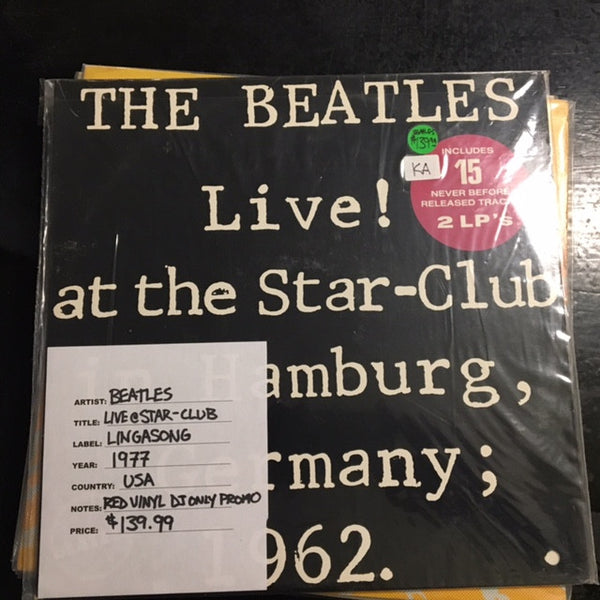 The Beatles - Live at Star Club LP ( Red Vinyl DJ Only Promo USA 1977 Lingasong)