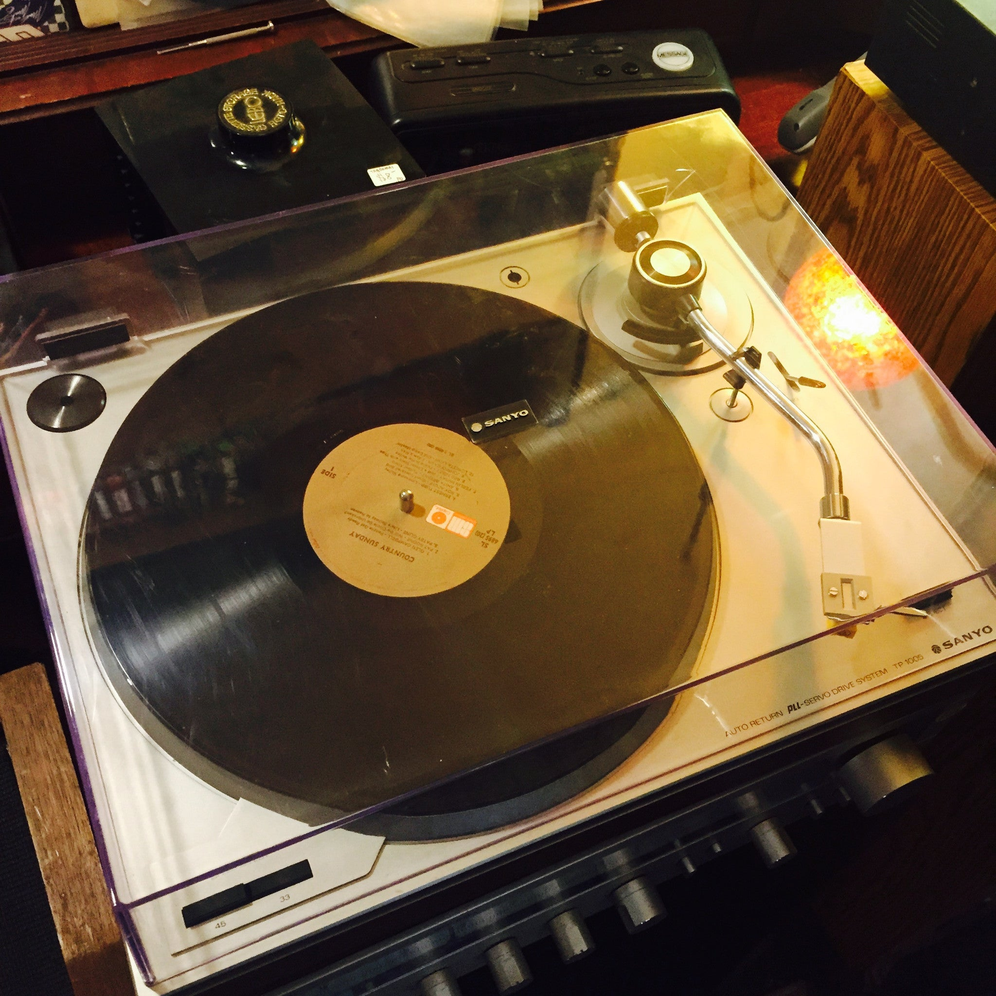 Sanyo TP-1005 Turntable + Audio Technica Cartridge