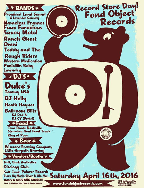 RSD 2016 Poster by Billy Bishop