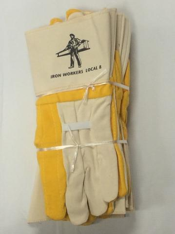 Large Gauntlet Gloves - Yellow w/ Elastic - Half Dozen