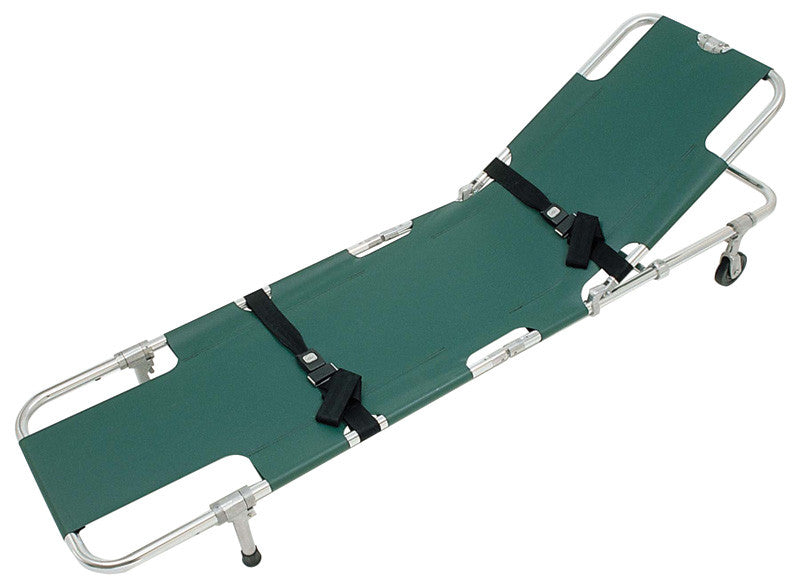 Junkin Safety JSA-604 ''EASY FOLD'' Wheeled Stretcher with Adjustable Back Rest