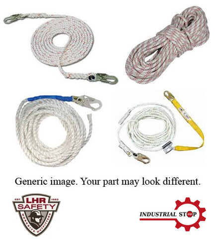 "TL58X20 - 5/8"" x 20' with 9/16"" Hook and Thimble One End Lifeline Rope"