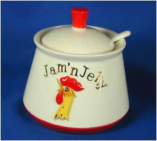 Holt Howard Jam N Jelly Jar Ca 1962 rooster