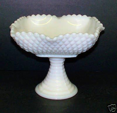 Westmoreland Milk Glass Candy Dish, pedestal