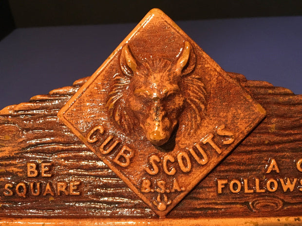 Vintage Cub B.S.A Scouts of America Tie Rack by Syroco wood 1940s Collectables  Akela